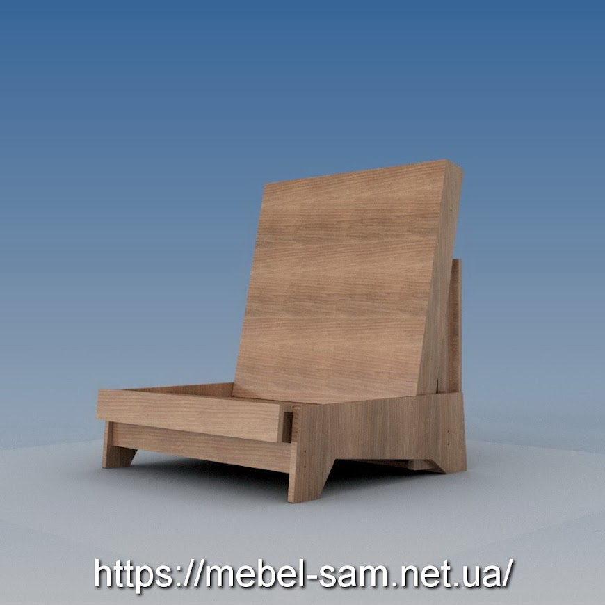 Вот так выглядит кресло без подушек