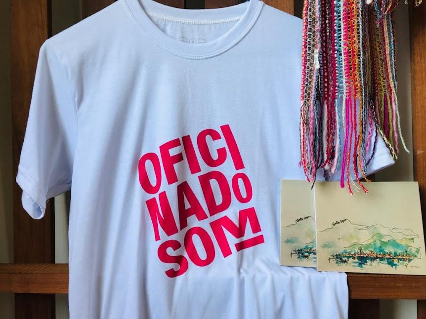 CDs e camiseta 'Oficina do Som'