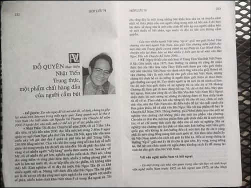Nhật Tiến của 20 năm trước (hay là: Trung thực, một phẩm chất hàng đầu của người cầm bút)
