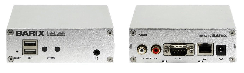 Barix Exstreamer M400 Multiformat IP Audio Decoder