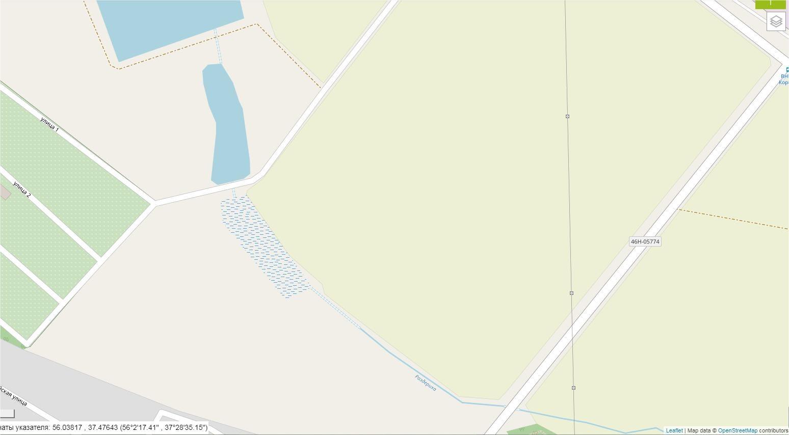 Карта-Раздериха-OSM-спутник - Современное состояние OpenStreetMap - вар.1