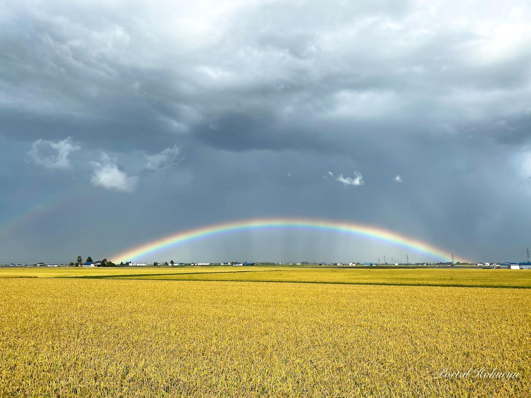 豊穣を祝う虹