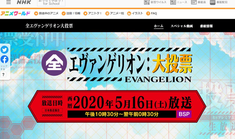 《 新世紀福音戰士 EVANGELION 》角色、台詞、使徒、EVANGELION人氣排行NHK投票結果大公開