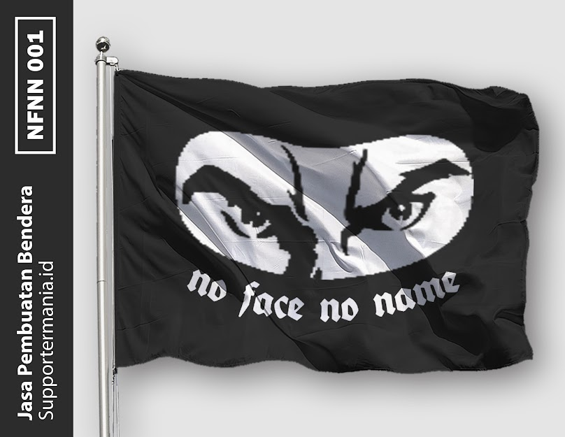 Desain Mini Flag atau Bendera Ultras No Face No Name