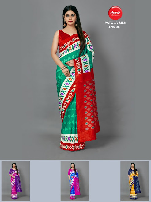 Apple Patola Silk Design No 38 Colour Chart Sarees Catalog Lowest Price