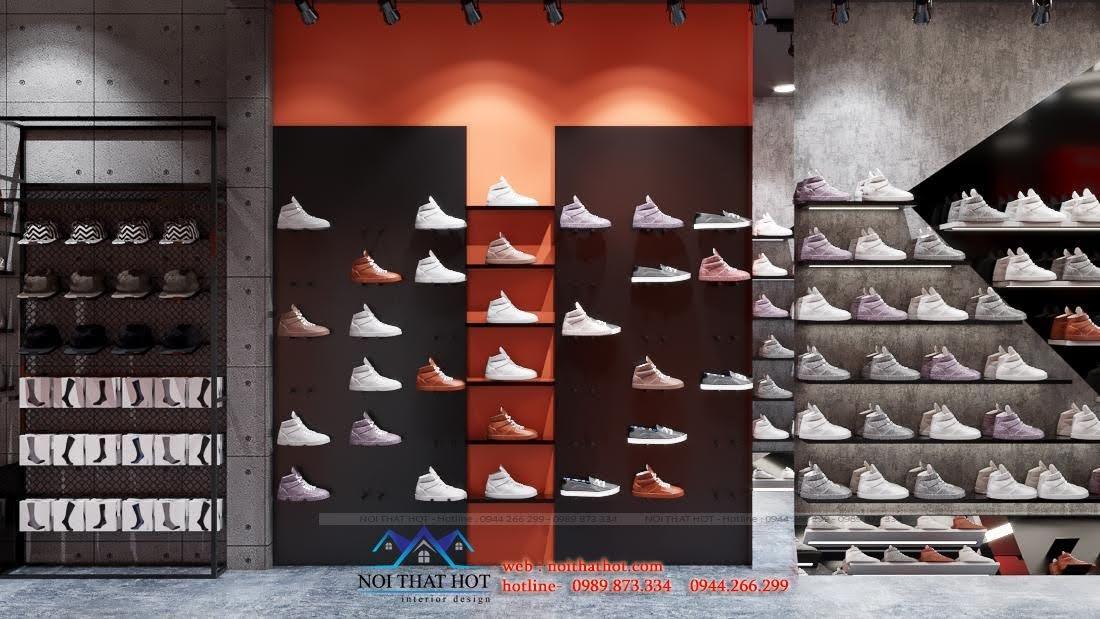 thiết kế shop giày cá tính