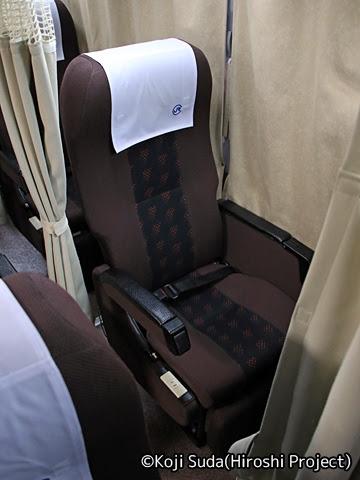 中国JRバス「出雲ドリーム博多号」 641-3955 シート