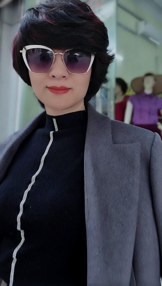 Áo khoác măng tô nữ vải dạ màu ghi xám V750 thời trang thủy hà nội 2