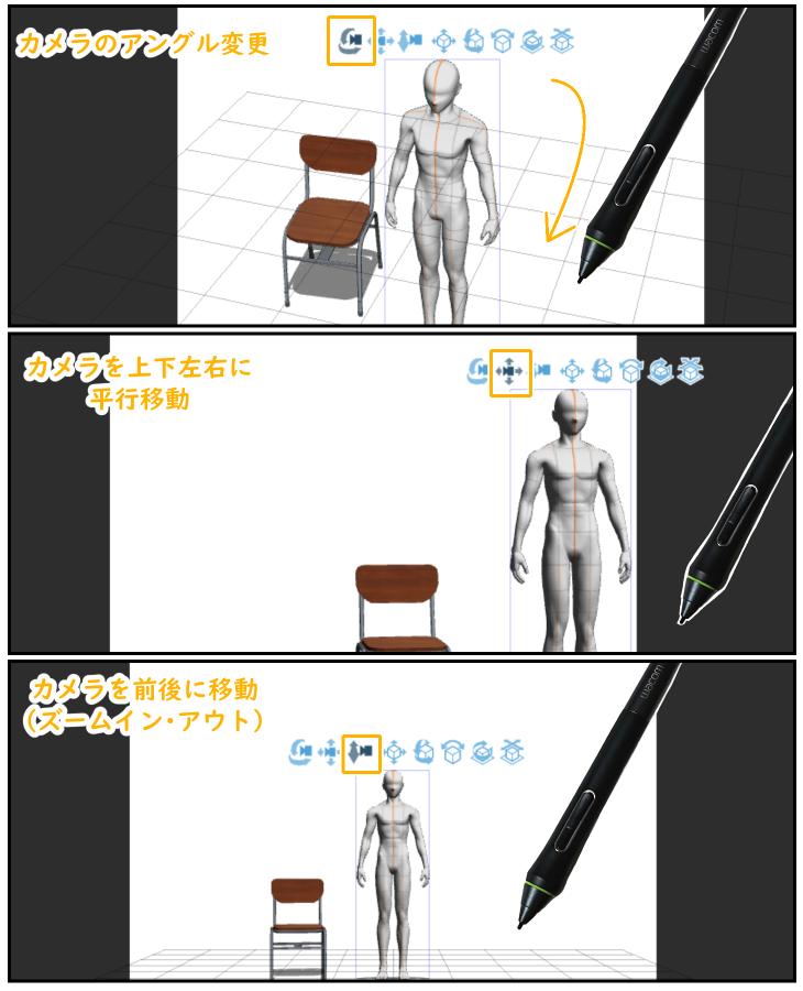 クリスタ3Dデッサン人形の移動マニピュレータ