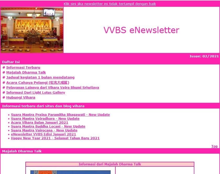 Newsletter Februari 2021