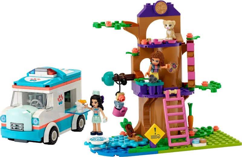 Contenido de Lego® 41445 Ambulancia de la Clínica Veterinaria