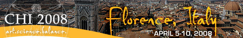 CHI 2008 참석하러 피렌체로