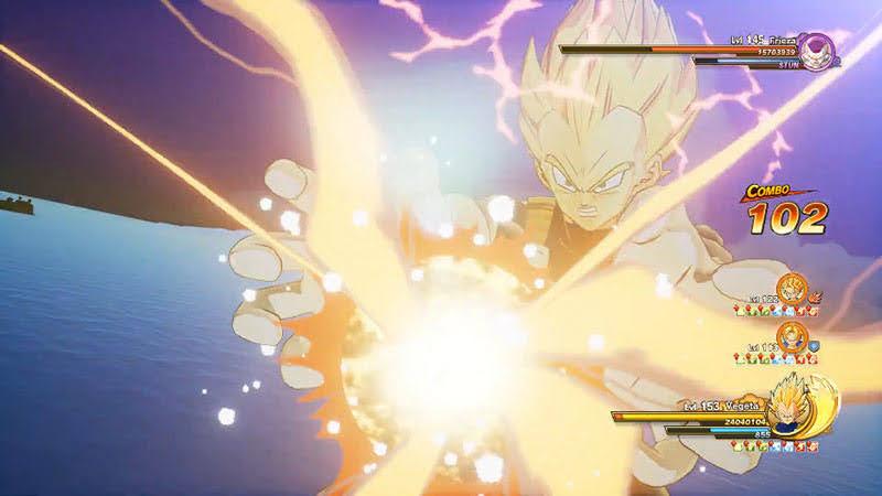 Vegeta tung đòn Final Flash, Ki Super Attack mạnh nhất của anh.