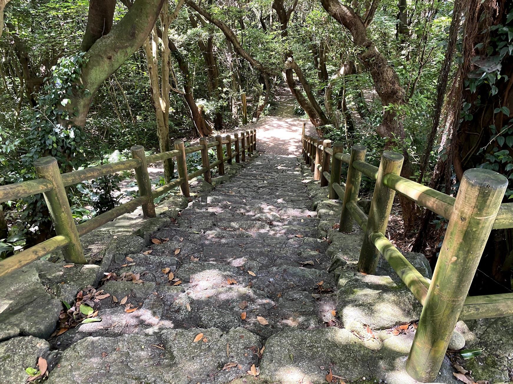 白山洞門への階段
