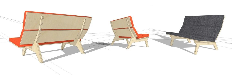 Финальный вариант дизайна кресла/дивана