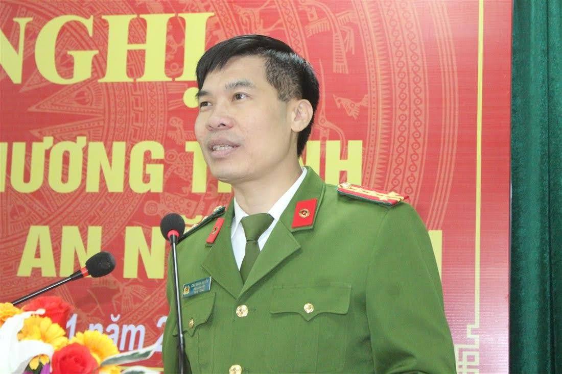 Đại tá Cao Minh Huyền, Phó Giám đốc Công an tỉnh ghi nhận, đánh giá cao những kết quả mà Công an huyện Anh Sơn đạt được trong năm 2020.