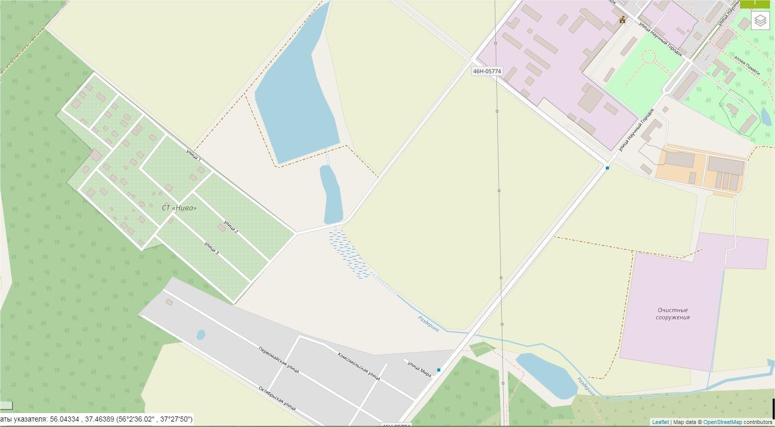Карта-Раздериха-OSM-спутник - Современное состояние OpenStreetMap - увеличено
