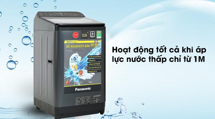 máy giặt Panasonic Inverter dòng FD-AR1 hoạt động tốt cả khi áp lực nước thấp chỉ từ 1M