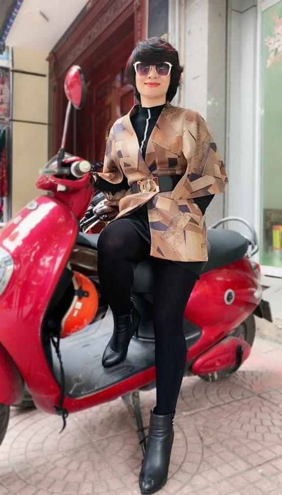 Áo khoác Cape nữ mix quần legging V748 thời trang thủy ở đà nẵng