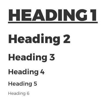 H1~H6 tag