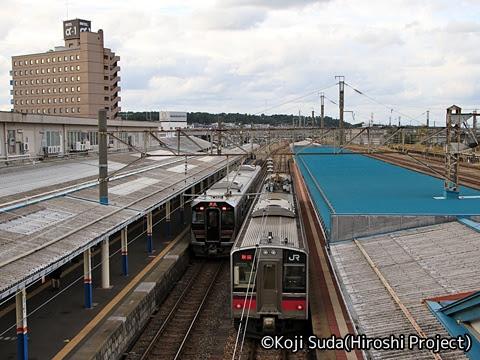 JR東日本 羽越本線 GV-E401・E402形(村上~酒田) 酒田到着