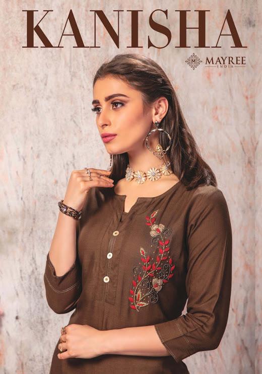 Kanisha Mayree Branded Straight Cut Kurtis Manufacturer Wholesaler