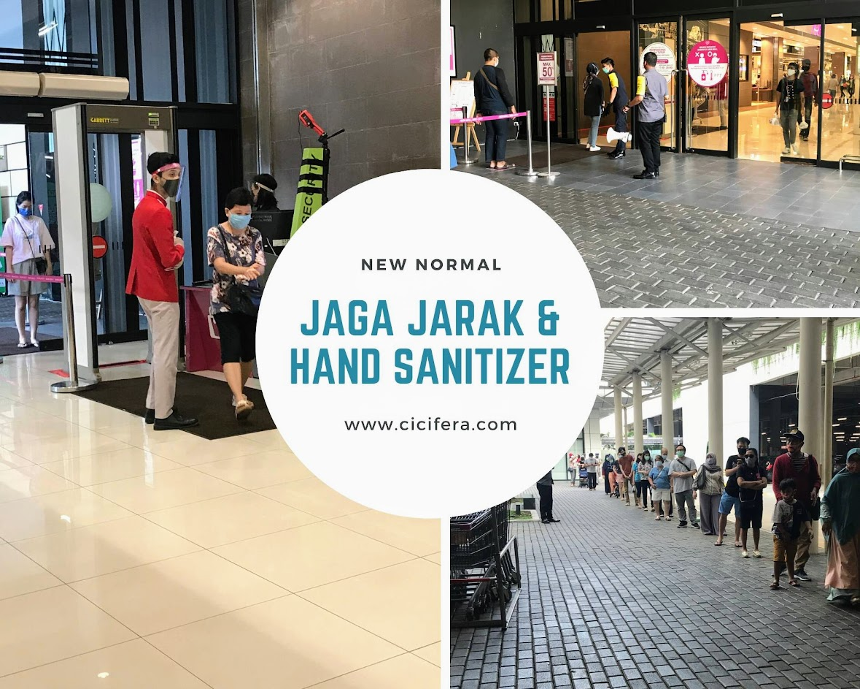 new normal - jaga jarak & handsanitizer