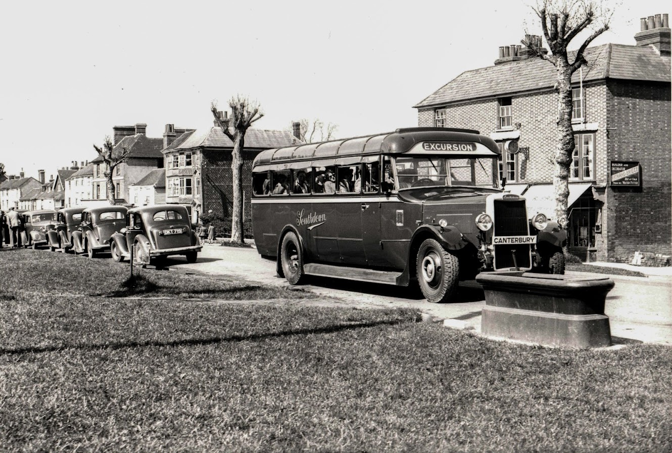 Tenterden Archive 1947 excursion bus to Canterbury