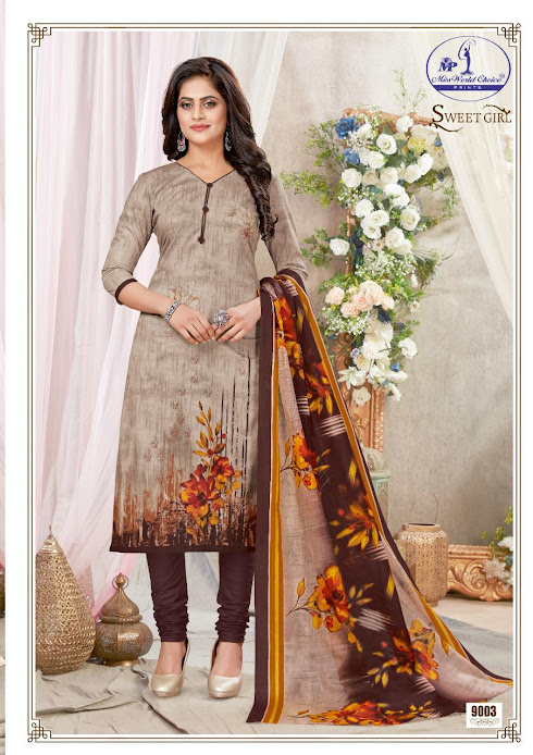 Buy Miss World Choice Sweet Girl Vol 9 Cotton Suits Catalog