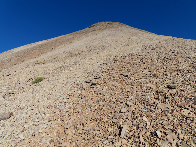 The steep eastern face of Mount Belknap