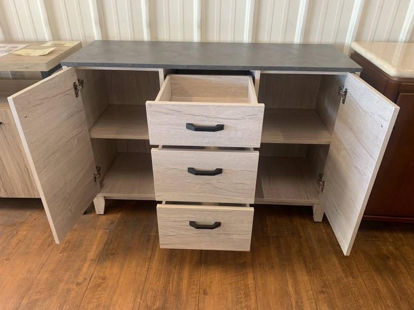 758-01 綠信仿岩板洗白 4尺餐櫃 / 5尺餐櫃