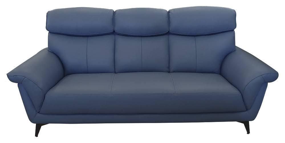 708-12  永恆星煙灰藍 半牛皮1+2+3人座沙發