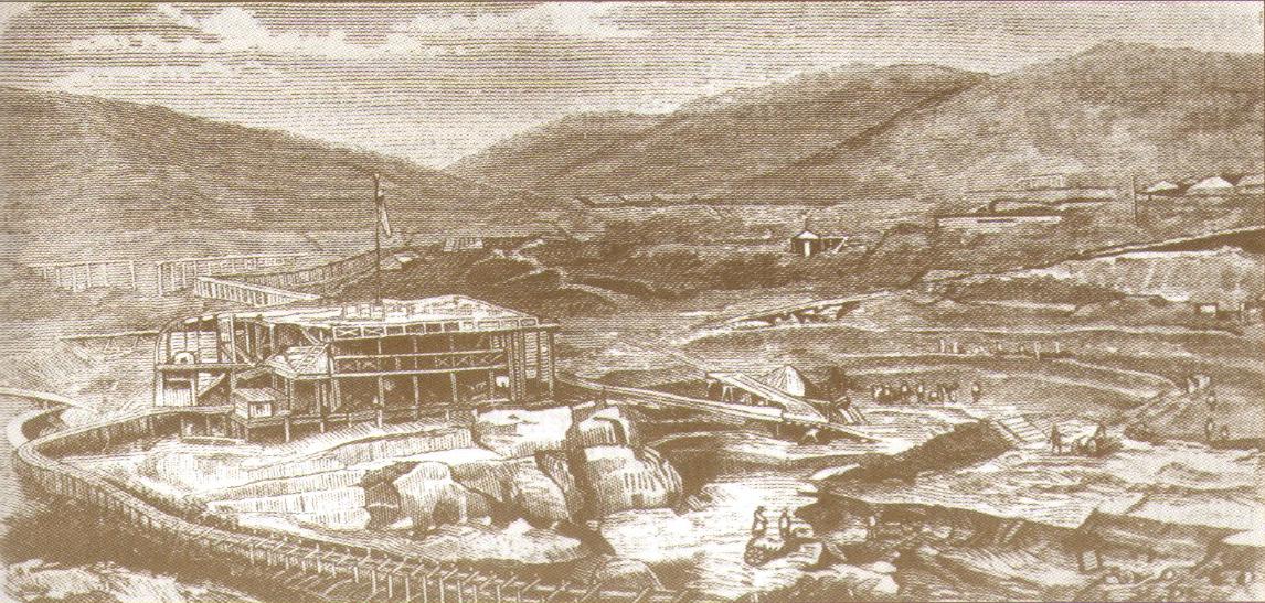 Панорама горных работ на Гавриловском прииске