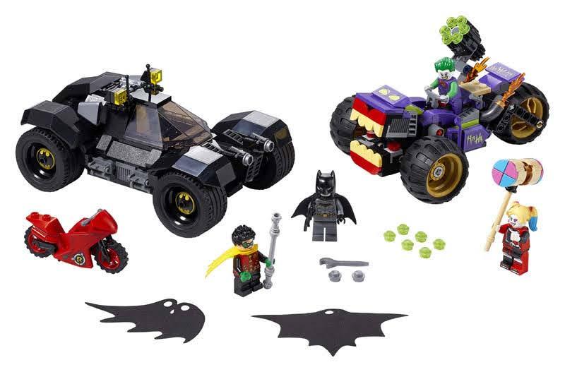 Contenido de Lego® 76159 Persecución de la Trimoto del Joker