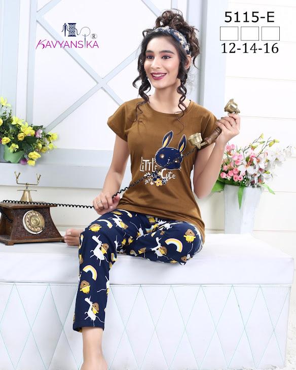 Vol 5115 Kavyansika Ladies Night Suits Manufacturer Wholesaler