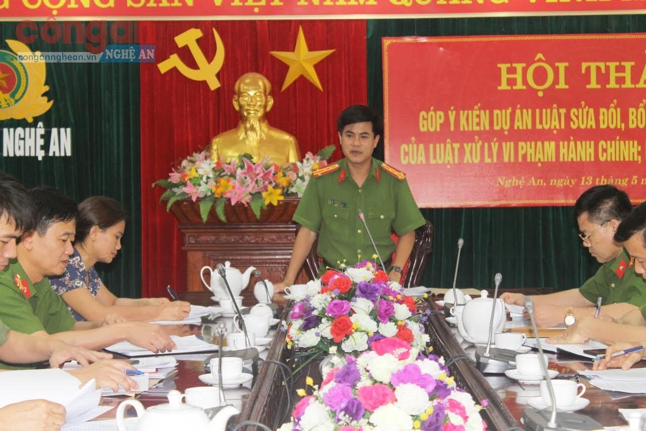 Đại tá Nguyễn Đức Hải, Phó Giám đốc Công an chủ trì hội thảo