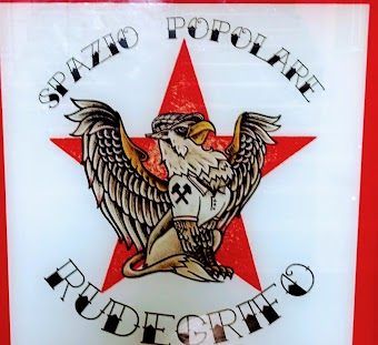 Wappen: Greif auf rotem Stern «Spazio Poplare Rudegrifo».