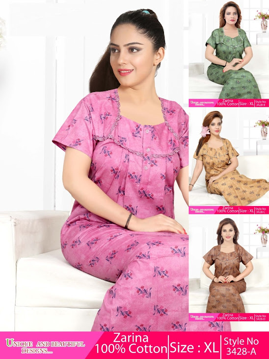 Kavyansika Zarina 3428 Branded Night Gowns Catalog Lowest Price