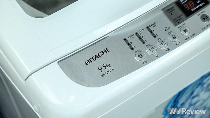 máy giặt Hitachi SF-S95XC có thể giặt tối đa 9,5