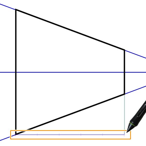 クリスタ:直線定規の目盛り(等分割)