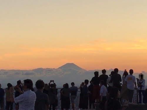 初めての六本木ヒルズ展望台。【屋上展望台編・その2(富士山方向)】