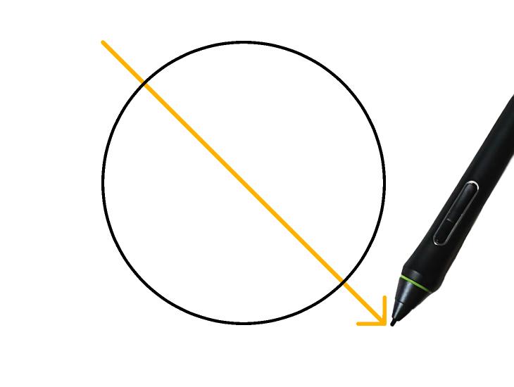 クリスタで円を描画