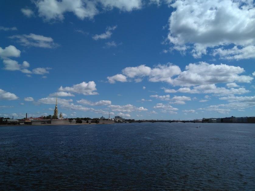 Река Нева. Вид со стрелки В.О.