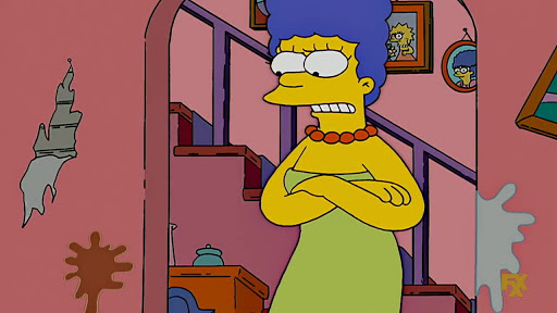 Los Simpsons 18x19 Pillos con escaleras