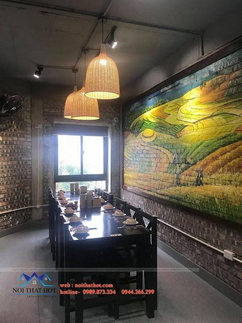 tranh tường trang trí cửa hàng