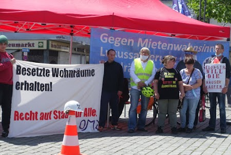 Kundgebung auf dem Heumarkt, «Shut down Mietenwahnsinn – Sicheres Zuhause für alle!»