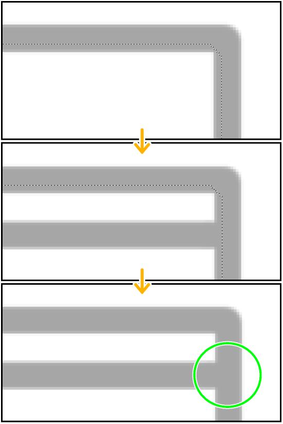 クリスタ自動選択ツール(領域拡縮あり)