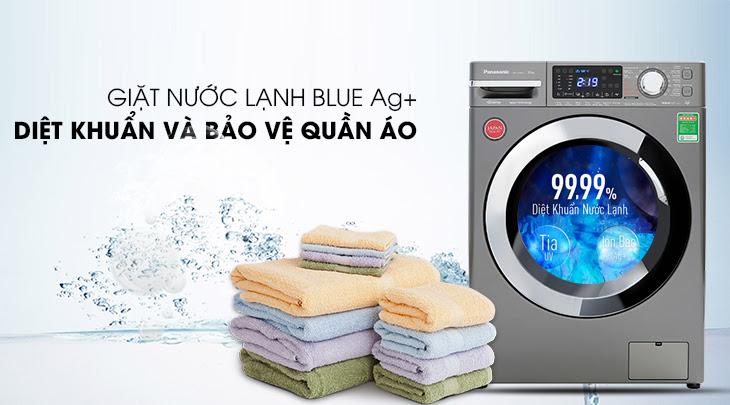 công nghệ Blue Ag+ trên máy giặt FX1 lồng ngang của Panasonic
