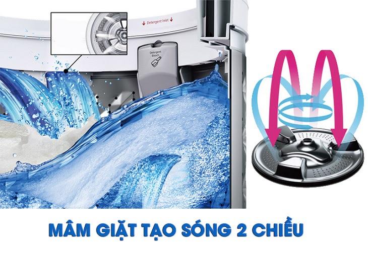 Cấu tạo đặc biệt với mâm giặt kép