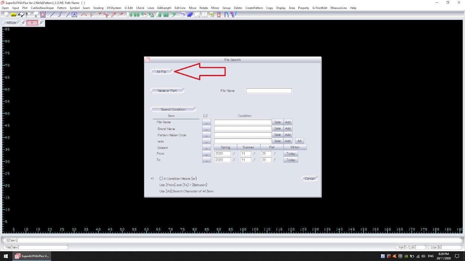 Cách Export Dxf Bộ Rập Pan Hoặc Pax Của Yuka SuperAlpha-Plus 4
